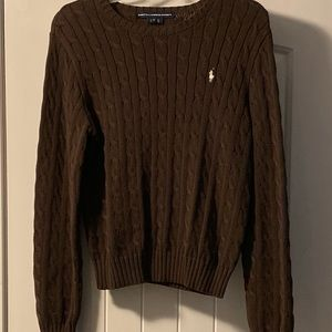 RALPH LAUREN SPORT BROWN  SWEATER SZ XL